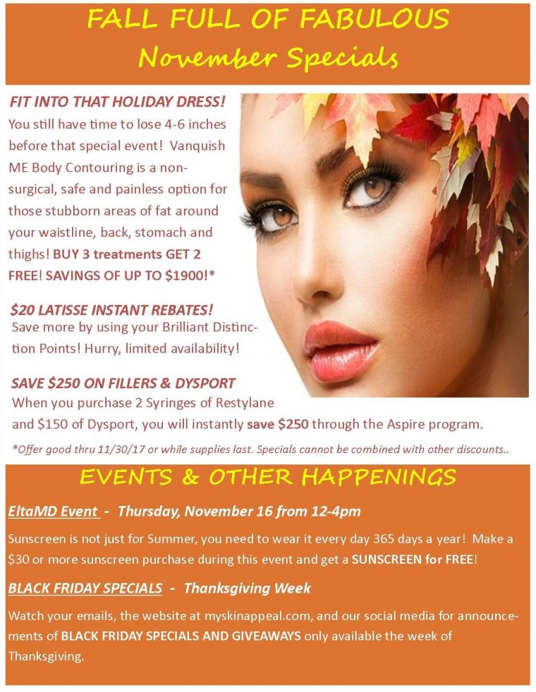 Save $250 on Fillers and Dysport, $1900 Off Body Contouring & More!