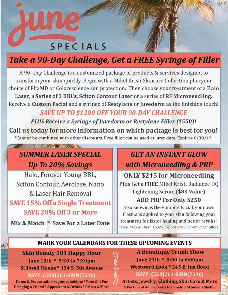 FREE FILLER, Laser Specials, Microneedling Deals & More